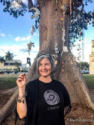 Artist-Elayna-Toby-with-Kinetic-Connections-Kapok-Tree-photo-courtesy-Melinda-Moore